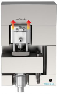 Die kühlmittelfreien Betätigungen übertragen Wärme auf die obere Klemmplatte. (Abb.: Mold-Masters)