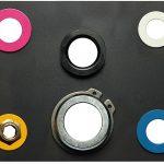 Farbscheiben zur Kreislaufkennzeichnung. (Foto: Nonnenmann)