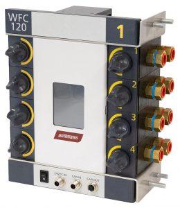 Der digitale Wasserverteiler WFC 120 kann bis zu einer maximalen Betriebstemperatur von 120 °C betrieben werden. (Foto: Wittmann)