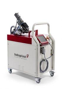 Das Babyplast-Zusatzspritzaggregat bietet eine flexible Produktionslösung für das 2K-Spritzgießen. (Foto: Christmann Kunststofftechnik)