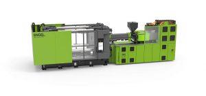 Die neue Spritzgießmaschine duo speed ist auf Verpackungs- und Logistikanwendungen zugeschnitten. (Foto: Engel)