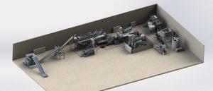 Die Folienwaschanlage ist für 100 % postindustrielle Stretchfolie konzipiert. (Foto: Herbold)