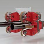 Hoch belastbare Elastomere wie Adiprene PP1095H kommen u. a. für Rollen in Aufzügen, Maschinen oder Achterbahnen zum Einsatz. (Foto: Lanxess)