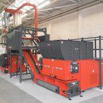 Die Zweistufige Zerkleinerungsanlage besteht aus Einwellen-Zerkleinerer und nachgeschalteter Schneidmühle. (Foto: Weima)