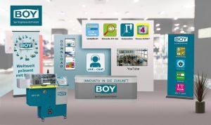Boy-Messestand auf dem virtuellen Technologietag. (Abb.: Dr. Boy)