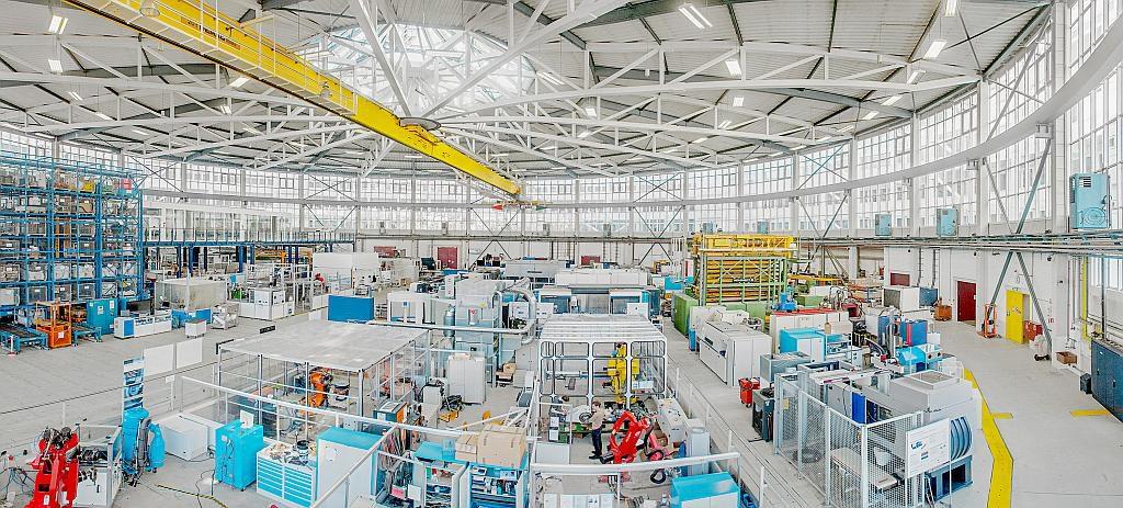 Versuchsfeld des Fraunhofer-Instituts für Produktionsanlagen und Konstruktionstechnik IPK. (Foto: Fraunhofer IPK)