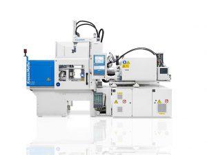 Die vollelektrische Spritzgießmaschine PX SilcoSet bietet eine Komplettlösung zur LSR-Verarbeitung. (Foto: KraussMaffei)