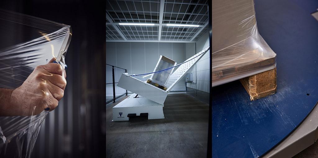 Die Blasstretchfolie Trioloop steht für hohe Durchstoßfestigkeit, Ladungsstabilität und Elastizität. (Foto: Trioplast)