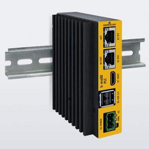 Die kompakte Steuerung b maXX PLC kombiniert dieVorteile von Industrie-PCs und PLC-Steuerungen auf einer gemeinsamen Hardware. (Foto: Baumüller)