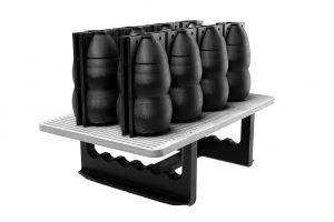 3D-gedruckte Flaschenformen unter Einsatz des neuen Materials xPEEK147-Black. (Foto: Henkel)