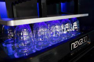 Einsatz des transparenten Materials xPP405-Clear Materials für 3D-gedruckte Flaschen. (Foto: Henkel)