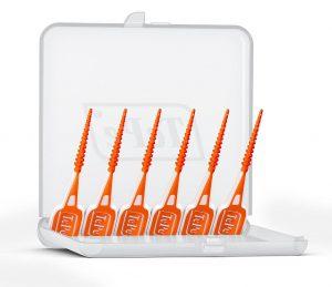 In einem Set sind immer sechs EasyPicks miteinander über dünne Abreißpunkte verbunden. (Foto: Tepe)