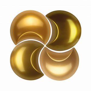 Die neuen Brillantgold-Effekt-Masterbatches lassen Kunststoff wie pures Gold erscheinen. (Foto: Lifocolor)