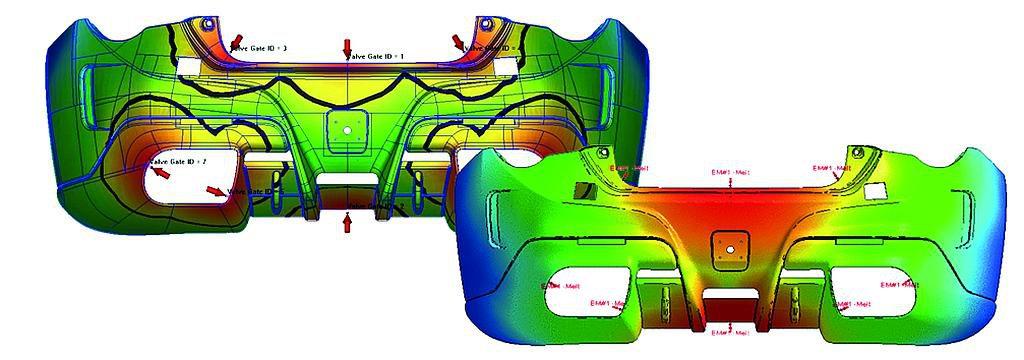 Mittels des Moldex3D Viewer Advanced können Bauteildesigns überprüft, Bauteileigenschaften visualisiert und entsprechend vorliegender Analyseergebnisse modifiziert werden. (Abb.: Simpatec)