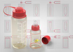 Mit dem PPSU Ultrason P lassen sich Trinkflaschen in allen drei marktgängigen Verarbeitungsverfahren – Spritzstreckblasformen, Extrusionsblasformen und Spritzgießen – herstellen. (Foto: BASF)