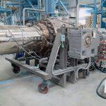 Doppelschneckenextruder twinEx für die Extrusion von O-PVC Rohren. (Foto: battenfeld-cincinnati)