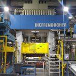 Die Hydraulikpresse im CSP-Werk in Sarepta leistet seit 20 Jahren zuverlässig ihren Dienst. (Foto: Dieffenbacher)