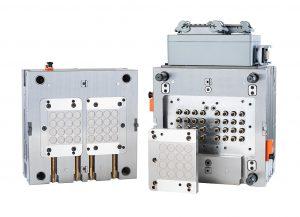 Das Test- und Demonstrationswerkzeug ist mit einem additiv gefertigte 32-fach-Heißkanalverteiler ausgestattet. (Foto: Hasco)
