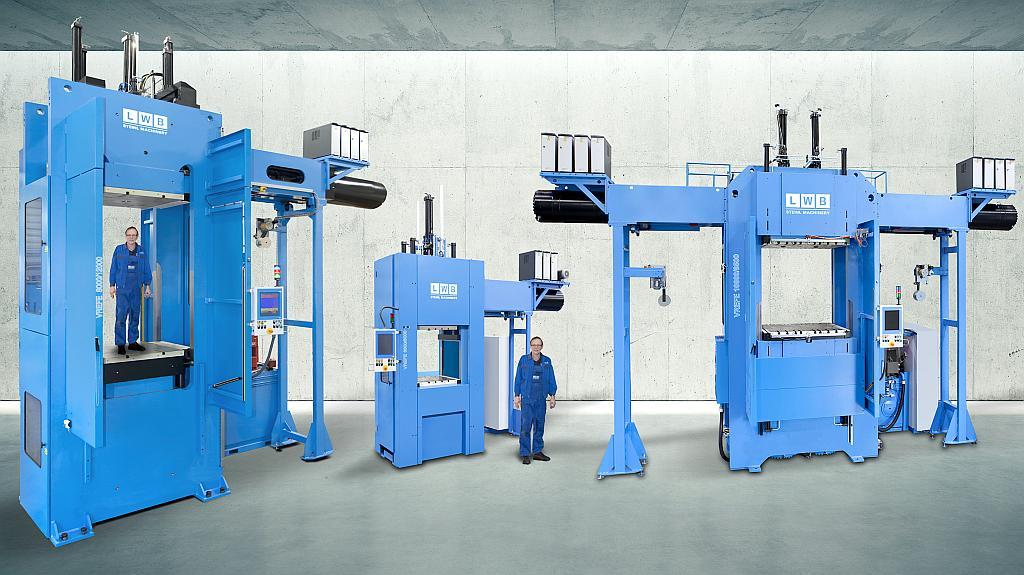 Die holmlosen Vertikalmaschinen der Baureihe VR sind in ein einer großen Bandbreite, sowohl bei dem Größenspektrum als auch der technischen Ausführung, verfügbar. (Foto: LWB)