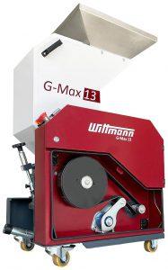 Die Beistellmühle G-Max 13 verfügt über einen Riemenantrieb mit automatischem Selbstspannsystem. (Foto: Wittmann)