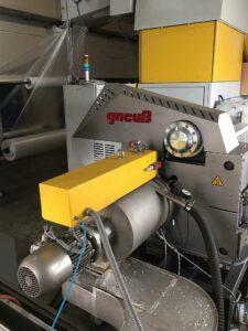 PE-Verpackungsfolienrecycling mit dem vollautomatischen, selbstreinigenden Rotary-Filtriersystem RSFgenius. (Foto: Gneuß)
