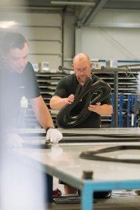 In der Profilrahmenfertigung bei Sealable. (Foto: Sealable)