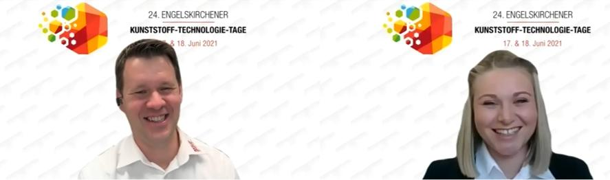 Geschäftsführer Peter Barlog als Referent und Barlog-Berechnungsingenieurin Pia Fielenbach als Moderatorin der digitalen EKTT. (Abb.: Barlog)