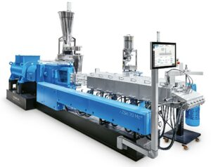 ZSK twin screw extruders ensure good gas discharge and high dispersion with short melt lifespans.  (Photo: Cuperion)