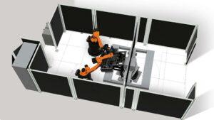 Mit der Simulationssoftware können Details und Abläufe von Roboterapplikationen schon vor der Inbetriebnahme realistisch simuliert werden. (Abb.: Kuka)