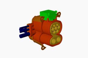 Der Ladeanschlusses ermöglicht das Aufladen der Fahrzeugbatterie sowohl mit Gleich- als auch mit Wechselstrom. (Abb.: Lanxess)