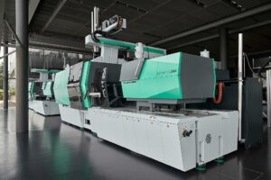 The Electric Allrounder 820 A with a clamping force of 4000 kN produces high-quality washboards using IMD technology.  (Photo: Arburg)