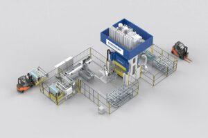 Vollautomatisierten SMC-Anlagen sorgen für eine höhere Produktionseffizienz. (Abb.: Dieffenbacher)