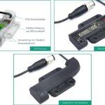 Demonstrator des individualisierten Sensors in den unterschiedlichen Fertigungsstufen: CAD-Konzept (oben links), nach der Integration der elektronischen Komponenten (oben rechts) und als fertiger Demonstrator (unten). (Abb.: Fraunhofer IPA)