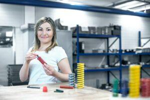 Der Systemdruckfeder-Assistent erleichtert den Konstruktionsprozess. (Foto: Meusburger)