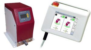 Druckregelmodul und Handbediengerät für die Gasinnendrucktechnologie Airmould Next. (Foto: Wittmann)