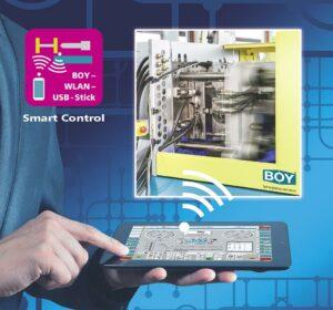 Boy-Maschinensteuerung per WLAN-Stick auf einem mobilen Endgerät. (Foto: Dr. Boy)