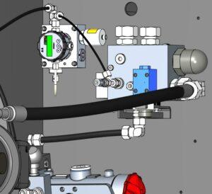 Mit spezieller Mess-Sensorik werden die Parameter des Öls von hydraulischen Maschinen entschlüsselt und dessen Qualität sichergestellt. (Foto: Sumitomo (SHI) Demag)