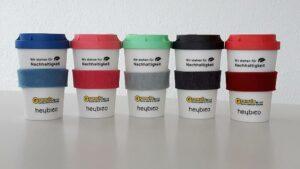 Die spritzgegossenen Coffee-to-go-Becher sind eine Anwendung für die biobasierten Masterbatches. (Foto: Granula)