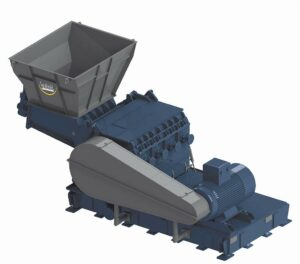 Die Herbold-Schneidmühle SB mit Zwangszuführung erreicht hohe Durchsatzleistungen bei niedrigem Energieverbrauch. (Foto: Herbold)