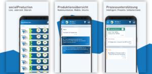 Produktionsüberwachung jederzeit und überall: socialProduction als Desktop-, Smartphone- und Tablet Applikation. (Foto: KraussMaffei)