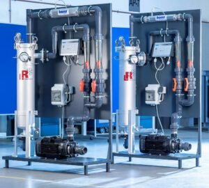 Im Bereich Wasseraufbereitung gehören Rücklauffilter und komplette Aufbereitungsmodule zum Programm von L&R. (Foto: L&R)
