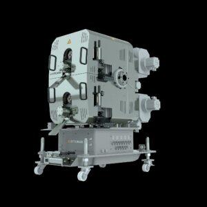 Der neue Hochleistungs-Schmelzefilter Eco 500 von Maag Ettlinger erreicht Durchsätze bis 4.000 kg/h. (Foto: Maag)