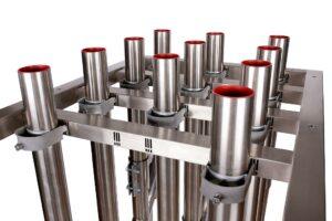 Der so genannte Vario-Tisch von Michel Tube Engineering ist ein neuartiger Kupplungsbahnhof im Baukastensystem. (Foto: Michel)