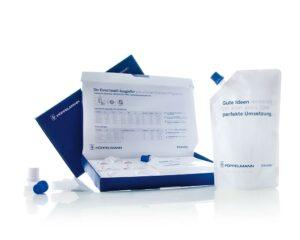 Einstoff-Verpackungen für bessere Recyclingfähigkeit: Technische Funktionsteile von Pöppelmann Famac, z. B. Einschweiß-Ausgießer, werden aus Mono-Materialien gefertigt. (Foto: Pöppelmann)