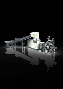 Die Shredder-Extruder-Kombination Isec evo gilt als effizienter Material-Allrounder. (Foto: Pure Loop)