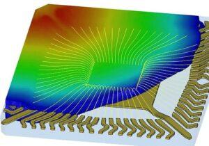 Neue Potting-Simulationsfunktionen in IC Packaging zur Realisierung einer zuverlässigen, leistungsfähigen IC-Produktleistung. (Abb.: Simpatec)