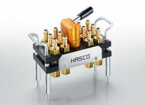 Hasco stellt leckagearme Multikupplungssysteme Z809../... und Z819../... vor. (Foto: Hasco)