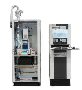 Pellet Scanner PS25C im Schranksystem als Online-Variante. (Foto: OCS)