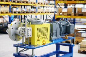 Schmelzepumpe, die bei der Herstellung von Filamenten für den 3-D-Druck einen hohen Druck und eine pulsationsfreie Schmelzeförderung sicherstellt. (Foto: Witte Pumps)